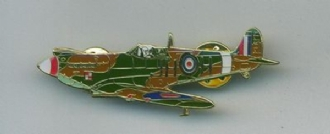SPITFIRE 3/4 TURN PIN BADGE