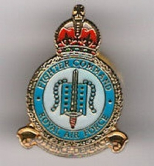 FIGHTER COMMAND CREST PIN BADGE