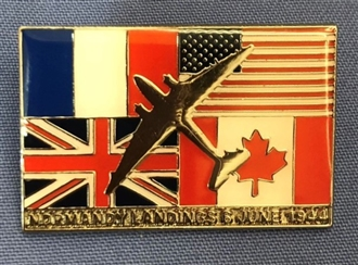 D-DAY NORMANDY LANDINGS PIN BADGE