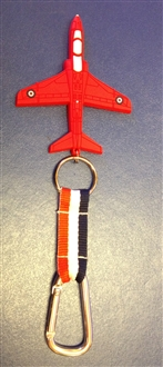 RED HAWK PVC HOOK KEYRING
