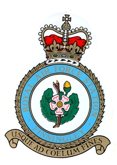 RAF FINNINGLEY CREST STICKER