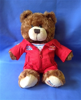 TRULY STUNNING RED ARROWS FLYING SUIT TEDDY BEAR