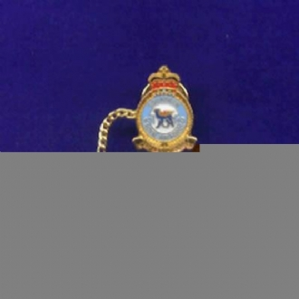 45 SQN OFFICIAL CREST TIE PIN WITH CHAIN