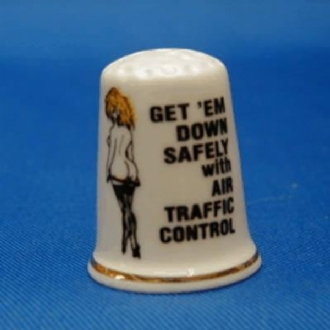 GET 'EM DOWN SAFELY WITH AIR TRAFFIC CONTROL THIMBLE