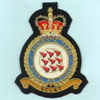 RED ARROWS ECLAT CREST GOLD WIRE BADGE