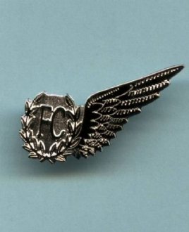 RAF FC WING PIN BADGE