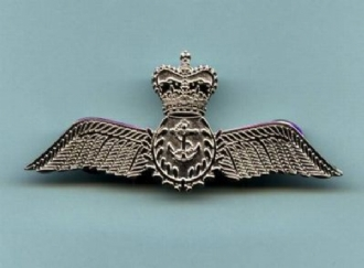 RN PILOT WING SILVER  PIN BADGE