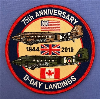 D-DAY LANDINGS BADGE WITH VELCRO